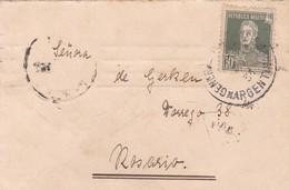 ARGENTINA - CIRCULATED ENVELOPE GENERAL VILLEGAS TO ROSARIO, 1920. FULL CONTENT INSIDE. SIGNATURE CARLOS RETTIG -LILHU - Argentina