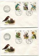HONGRIE ENVELOPPE 1er JOUR DES N°3257/3262 OISEAUX ESPECES PROTEGEES OBLITERATION BUDAPEST 1990-11-20 - Specht- & Bartvögel