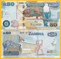 Zambia 50 Kwacha P-60 2018 UNC Banknote - Zambia