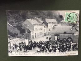 Fêtes Franco-Belges-Inauguration Du Chemin De Fer De Sedan à Bouillon-Vue Prise Du Château De Bouillon - Sedan
