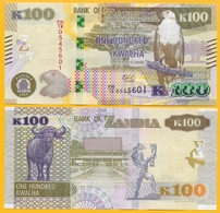 Zambia 100 Kwacha P-61 2018 UNC Banknote - Zambie