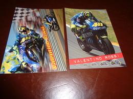 B751  2 Cartoline Valentino Rossi Non Viaggiate - Motorcycle Sport