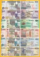 Zambia Full Set 2, 5, 10, 20, 50, 100 Kwacha 2018 UNC Banknotes - Zambia