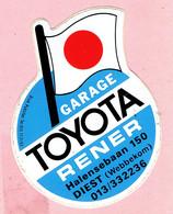 Sticker - Garage TOYOTA - RENER Halensebaan 150 DIEST ( Webbekom ) - Stickers