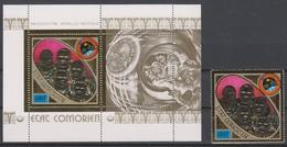SPACE - Apollo - COMORES - S/S+Stamp Gold MNH - Spazio