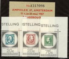 NTH SC #448-50 MNH + Ticket 1967 AMPLILEX '67 CV $5.25 - Period 1949-1980 (Juliana)