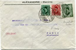 EGYPTE LETTRE AVEC OBLITERATION VICTORIA (PAQUEBOT ITALIEN) 10-11-31 POUR LA FRANCE - Covers & Documents