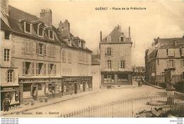 WW 2 X CPA 23 GUERET. Café De Plaisance Place Préfecture Et Château Des Comtes De La Marche 1931 (plissure Sur La 1ère) - Guéret