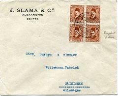 EGYPTE LETTRE AVEC OBLITERATION LLOYD TRIESTINO (PAQUEBOT ITALIEN) 30-12-31 POUR L'ALLEMAGNE - Covers & Documents