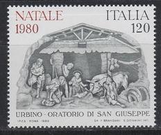 ART FOLKLORE WEIHNACHTSKRIPPE Crèche De Noël Christmas Crib ITALY  ITALIA ITALIEN 1980 MI 1738 MNH  NAVIDAD NATALE - Christmas