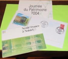 Lot De 3 Documents JOURNÉE Du PATRIMOINE 2004 - Usine à Noisiel Du Chocolat MENIER Appartenant à NESTLÉ - Reclame