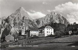 LERMOOS-GEGEN DIE SONNSPITZE-1958-REAL PHOTO - Lermoos