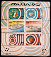 RP005 - 1990 REPUBBLICA - FOGLIETTO COPPA DEL MONDO ITALIA 90 LIRE 450 - MNH - 6. 1946-.. Repubblica