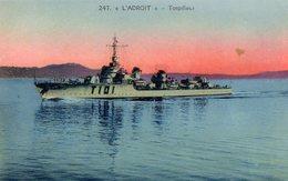 Marine De Guerre  -  'L'Adroit'  -    Torpilleur  -   CPA - Guerra