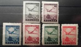 Pologne 1946 Y&T N°10-15 ** Varsovie - Poste Aérienne