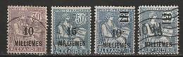 Alexandrie N° 56, 62, 70, 71 - Gebraucht