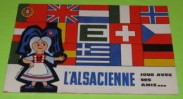 Livret Jeux L'ALSACIENNE - DRAPEAUX D'Europe - Publicité Des Drapeaux En METAL Laqué Pour Le Drapeaurama - Années 70/80 - Publicités