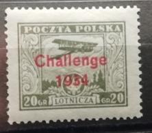 Pologne 1934 Y&T N°9A * Challenge International D'aviation - Poste Aérienne