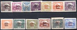 POLOGNE (SILESIE ORIENTALE) - 1920 -  N° 1 à 14 - (Lot De 13 Valeurs Différentes) - (Timbre De Tchécoslovaquie) - Schlesien (Ober- Und Nieder-)