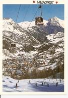 73. CPM. Savoie. Maurienne. Valloire. Vue Sur La Station. Télécabine De La Sétaz (animée, Skieurs, Cabines) - Otros Municipios