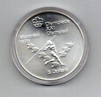 Canada - 1975 - 5 Dollari - XXI^ Olimpiadi Di Montreal Del 1976- Argento 925 - Peso 24,3 Grammi - In Capsula - (MW2717) - Canada
