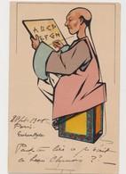 Cpa Fantaisie Signée Graham Hyde / Raphael Tuck .Un Mot à La Poste / Chinois .Calligraphie - Illustrateurs & Photographes