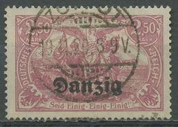 Danzig 1920 Deutsches Reich Mit Aufdruck 12 A Gestempelt Geprüft - Danzig