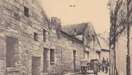 AK Deutsche Soldaten M Fuhrwerk I Kleinstadt - Belgien (?) - Feldpost Kgl. Pr. Schw. 15cm Kan-Battr. Nr. 23 1917 (46535) - Ohne Zuordnung