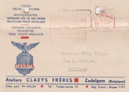 ZEDELGEM / ZEDELGHEM Ateliers Flandria  Claeys 1942 Cycles Vélos Motocyclettes - Zedelgem