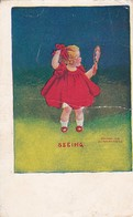 PC Girl With Mirror - Seeing - Ullman NY - USA Dekalb 1908 (46538) - Humorous Cards