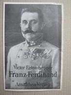 Victor Eisenmenger, Erzherzog Franz Ferdinand, 1929. + Bestellformular ( Old Advertising Material ) - Pubblicitari