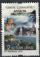 Turquie 2014 Oblitéré Used Villes Touristiques Antalya SU - 1921-... Republiek