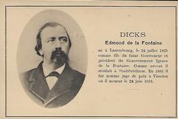 DICKS  Edmond De La Fontaine  -  Edit.Papeterie Brück Soeurs , Grand'rue19  Luxembourg - Ansichtskarten