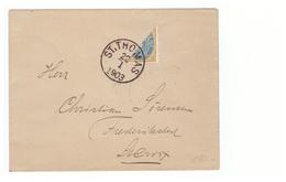 DWI Dänisch Westindien Diagonal Half On Cover St Thomas Lettre Antilles Danoises Avec Demi Timbre Cachet 1903 - Danimarca (Antille)