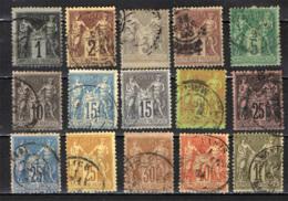 FRANCIA - 1877 - SAGE - N SOTTO LA U - USATI - 1876-1898 Sage (Tipo II)