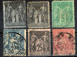 FRANCIA - 1877-1900 - SAGE - N SOTTO LA U - USED - 1876-1898 Sage (Tipo II)
