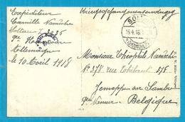 Foto-kaart Van SOLTAU Met Stempel GEPRUFT, Naar JEMEPPE-SUR-SAMBRE - WW I