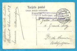 Foto-kaart Van SOLTAU Met Stempel GEPRUFT, Naar GRAND LEEZ (Prov. NAMUR) - WW I