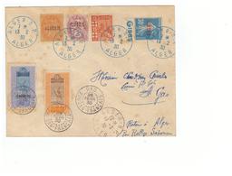 Lettre Algerie 1930 Pour Gao Soudan Français Retour à Alger Par Rallye Saharien Timbre Timbres AOF - Algérie (1924-1962)