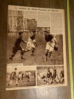 1934 M RUGBY VICTOIRE DU STADE FRANCAIS SUR BIARRITZ CARCASSONNE VIENNE - Vieux Papiers