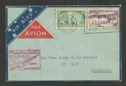 Sté AIR BLEU / 1ère Liaison Postale Aérienne PARIS - STRASBOURG / 10 Juillet 1935 - Postmark Collection (Covers)