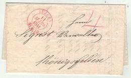 Suisse // Schweiz // Switzerland //  Préphilatélie // Lettre Au Départ De Luzern Cachet Rouge Du 11 Mars 1841 - Suisse