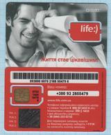 UKRAINE / GSM SIM Unused Card / Phonecard / LIFE - 4 / 2010s - Ucraina