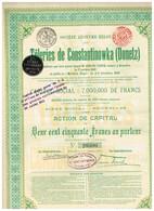 Titre Ancien - Tôleries De Constantinowka (Donetz)  - Titre De 1911 N°20300 - Russie