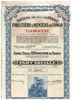 """Titre Ancien - Société Internationale Forestière & Minière Du Congo """"FORMINIERE"""" - Titre De 1950  N° 236951 - Afrika"""