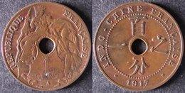 INDOCHINE  1 Cent 1917   INDOCINA  INDOCHINA    PORT OFFERT - Viêt-Nam