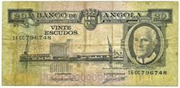 Angola - 20 Escudos - 10.06.1962 - Pick 92 - Série 16 CC - Américo Tomás - PORTUGAL - Angola