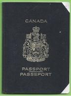 Canada - Passport - Passeport - Vecchi Documenti