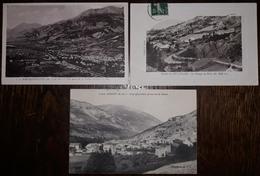 N°334 )BARCELONNETTE/ANNOT/ROUTE DU LA D'ALLOS-69-LOT DE 3 CARTES- - Francia