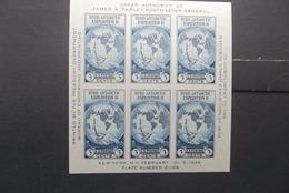 USA: 1934 S/S, Mint, No Gum (#UW10) - Unused Stamps